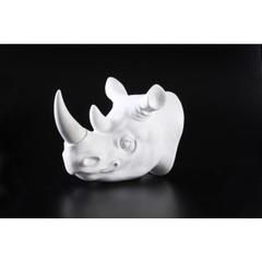 rhinoceros  head wall décor